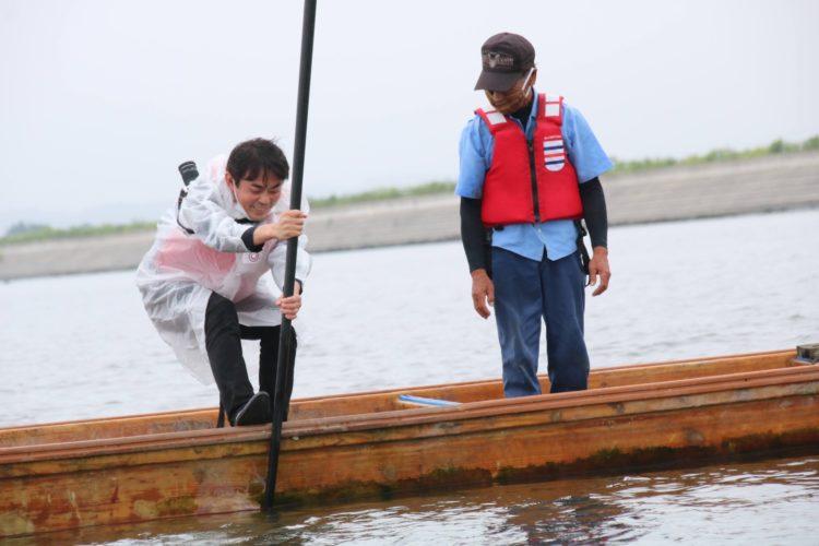 涸沼のシジミ漁②