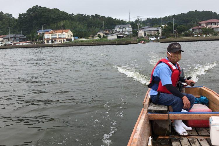 涸沼のシジミ漁①